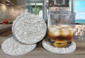 Moisture Absorbent Coasters - Tiny Shells
