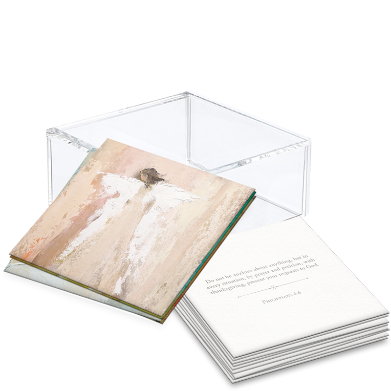 Scripture Cards w/ Lucite Box - 100 Days of Scripture