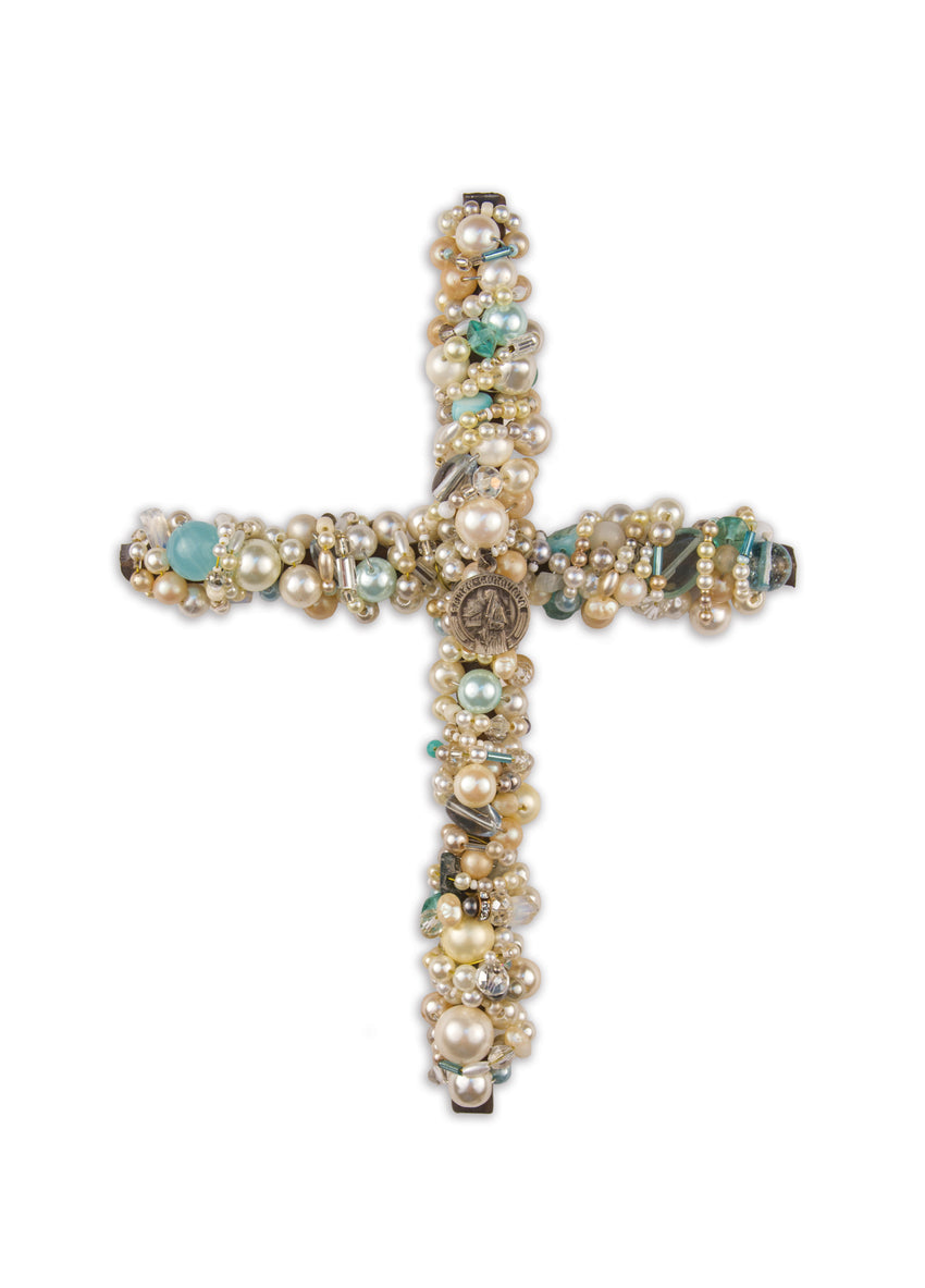 Beaded Iron Cross