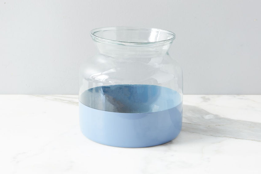 Colorblock Vase - Denim