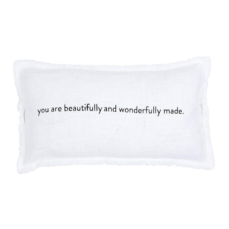 "Pillow Lumbar ""You are beautifully and wonderfully made"""