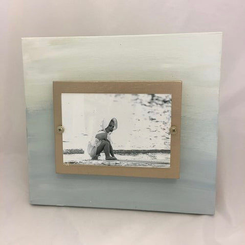 Blue Ombre Photo Frame