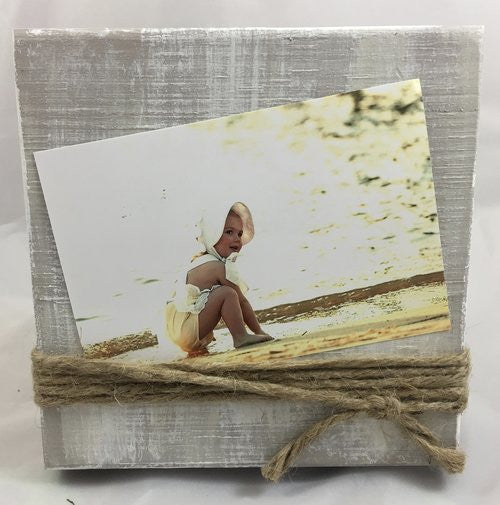 Wood and Twine Photo Frame