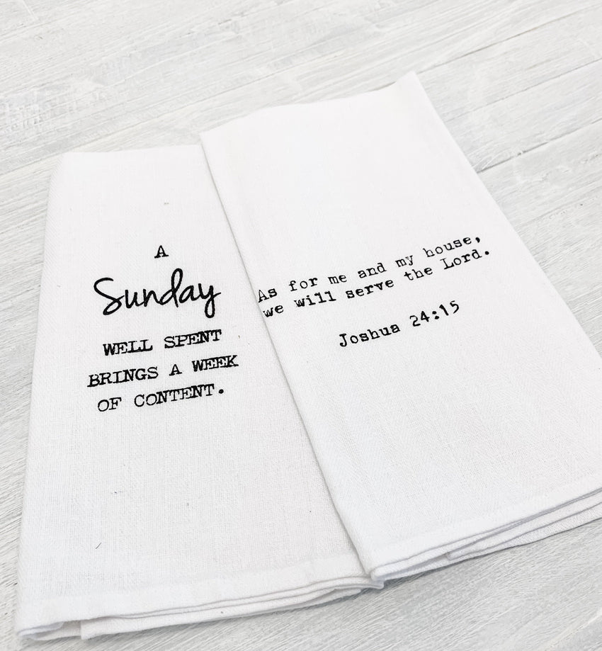 Hand Towel 2-Pack Sunday & Scripture