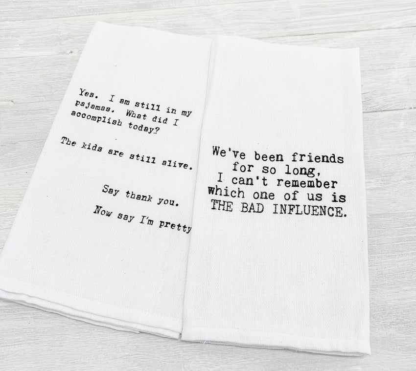 Hand Towel 2-Pack Pajamas & Bad Influence