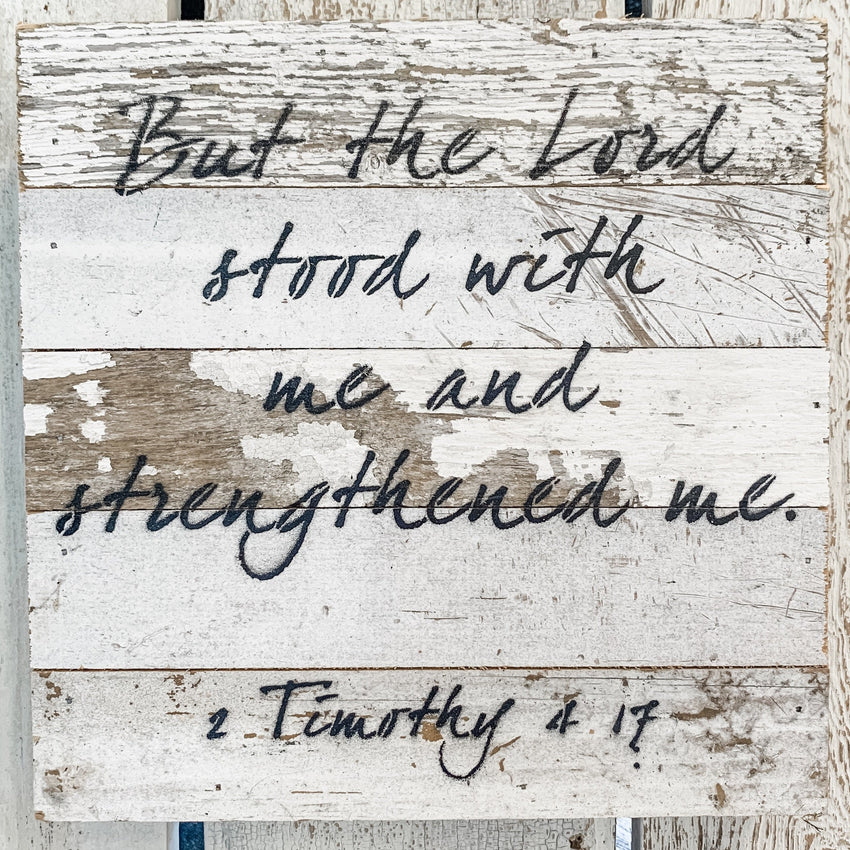 "Word Board ""1 Tim 4:17"" 10x10"""