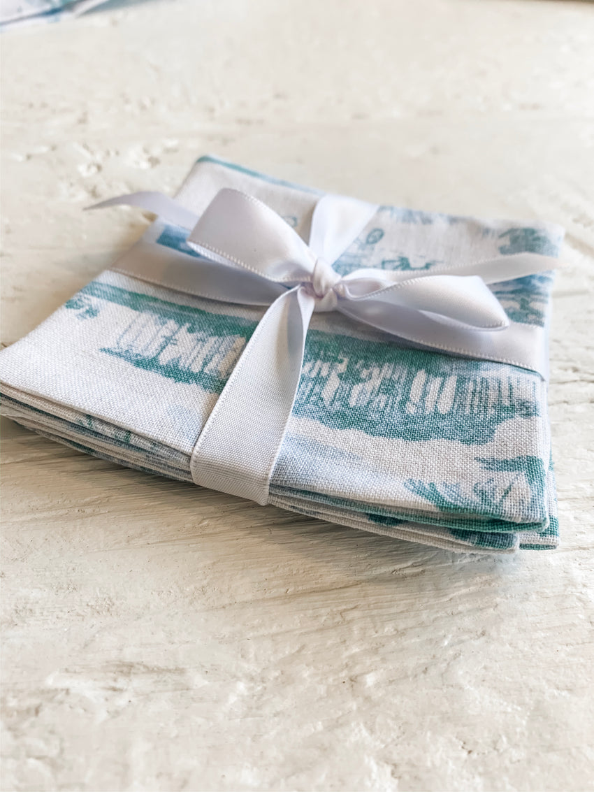 30A Toile Set of 4 Coasters