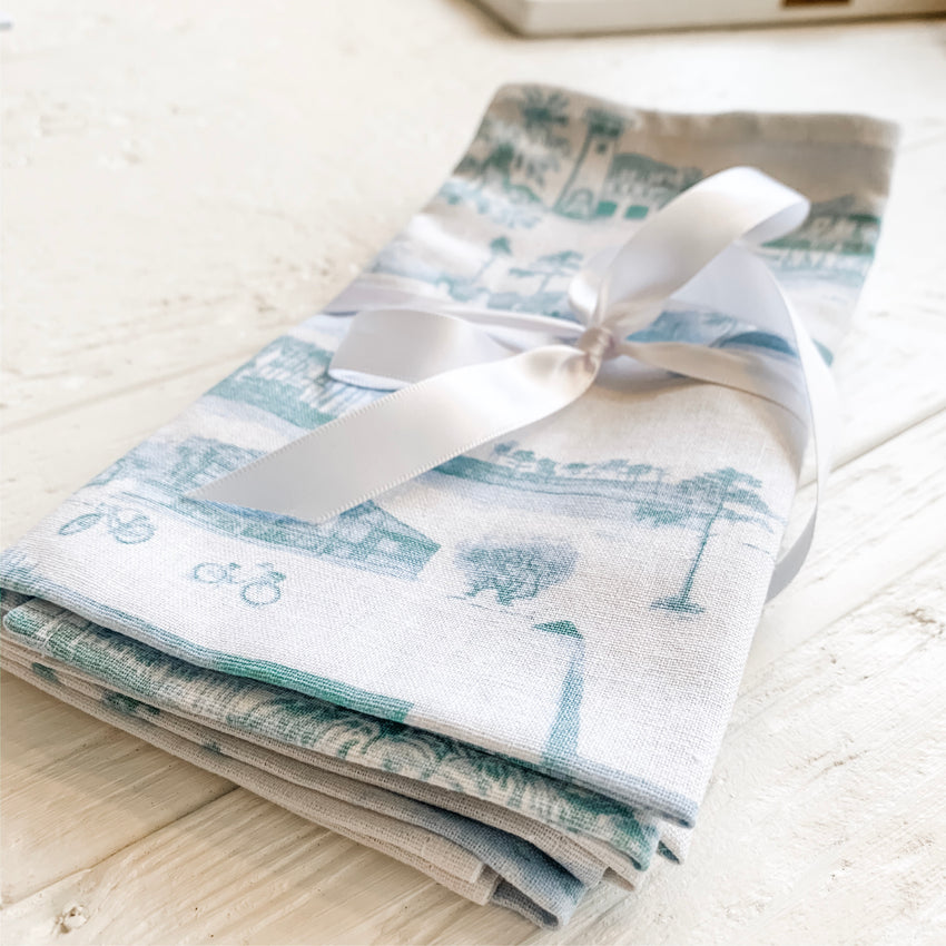 30A Toile Set of 4 Napkins