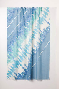 Cashmere and Silk Scarf - Tie Dye Opal