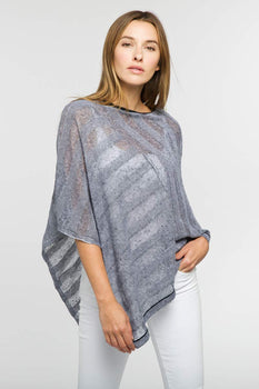 Shadow Stripe Poncho