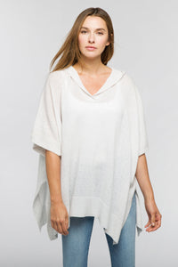 Dropstitch Hooded Poncho Whisper