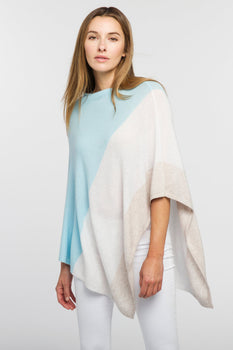 Colorblock Poncho Oasis