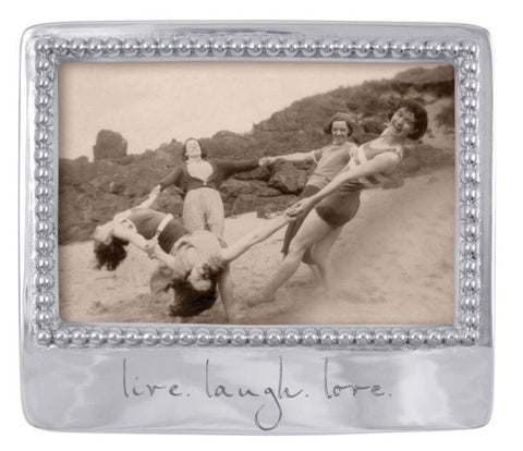 "Photo Frame ""Live. Laugh. Love."""