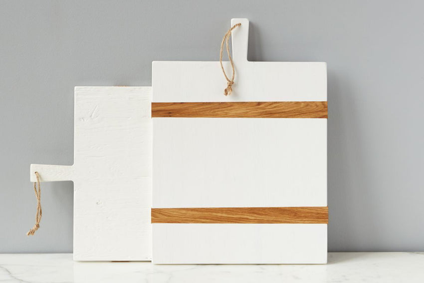 Charcuterie Board Rectangle - White & Natural