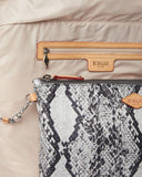 MZ Wallace Medium Metro Tote Bag Grey Snake