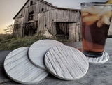 Moisture Absorbent Coasters - Barn Wood