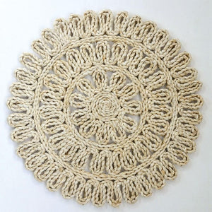 Placemat Woven Straw - Natural Round