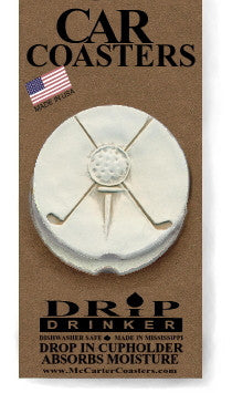 Moisture Absorbent Car Coasters - Golf