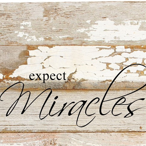 "Word Board ""Expect Miracles"" 6x6"""