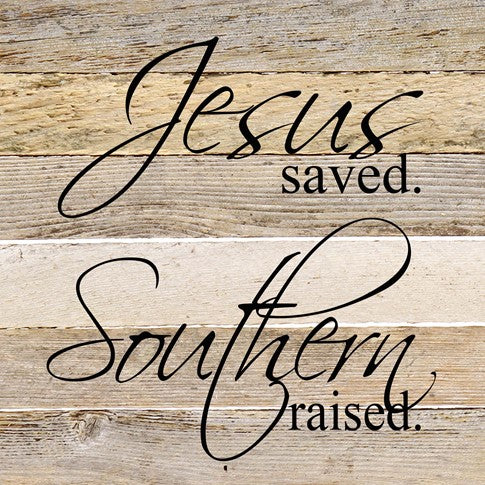 "Word Board ""Jesus Saved"" 6x6"""