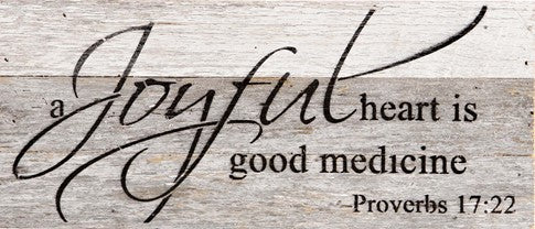 "Word Board ""A Joyful Heart..."" 14x6"