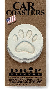 Moisture Absorbent Car Coasters - Dog Paw