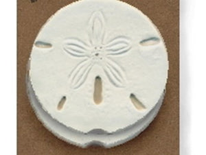 Moisture Absorbent Car Coasters - Sand Dollar