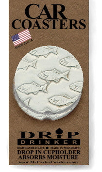 Moisture Absorbent Car Coasters - School of Fish