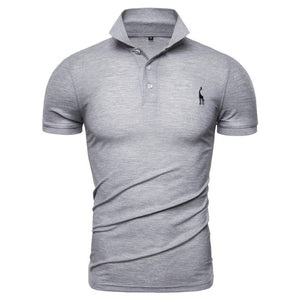 NEGIZBER New Man Polo Shirt Mens Casual Deer Embroidery Cotton Polo shirt Men Short Sleeve High Quantity polo men - My New Mart