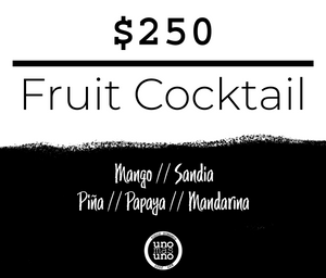 Fruit Cocktail - Mezcla de frutas.