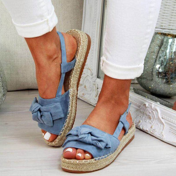 Peep Toe Slip-On Slingback Strap Plain Casual Sandals