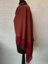 Load image into Gallery viewer, Burgundy Lightweight Poncho with Chiffon Edge