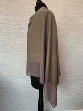 Load image into Gallery viewer, Dark Grey Lightweight Poncho with Chiffon Edge