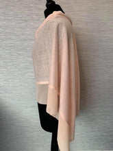 Load image into Gallery viewer, Peach Lightweight Poncho with Chiffon Edge