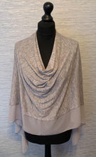 Load image into Gallery viewer, Grey Lightweight Poncho with Chiffon Edge