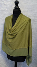 Load image into Gallery viewer, Forest Green Lightweight Poncho with Chiffon Edge