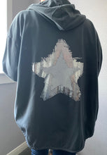Load image into Gallery viewer, Charcoal zip up jacket with star detail