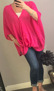 Bright pink loose over shirt