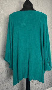 Green loose over shirt