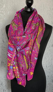 Large pink square scarf