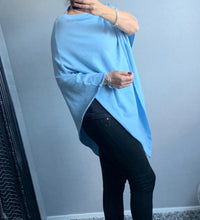 Load image into Gallery viewer, Baby blue poncho