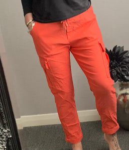 "Coral combat style ""magic"" trousers."