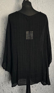 Black loose over shirt
