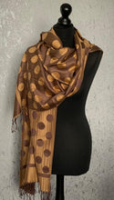 Load image into Gallery viewer, Spotty print pashmina scarf