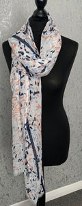 Spotted abstract scarf