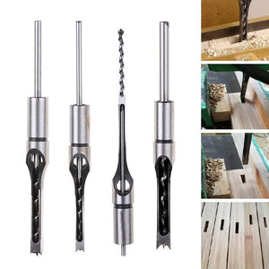 Hollow Chisel Mortise Drill Tool (4 PCS)