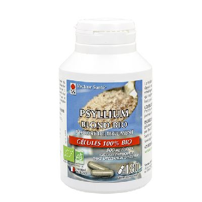 Psyllium Blond 180 Gel. Vecteur Sante