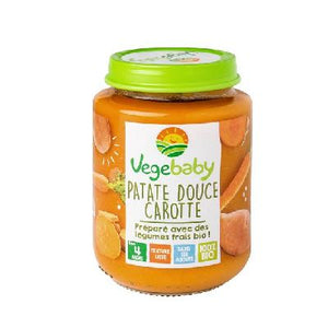 Vegebaby Pot Patate Douce Carotte 190 G