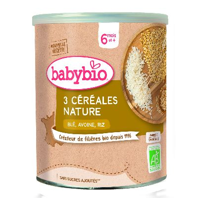 Babybio 3 Cereales Nat 8  Mois