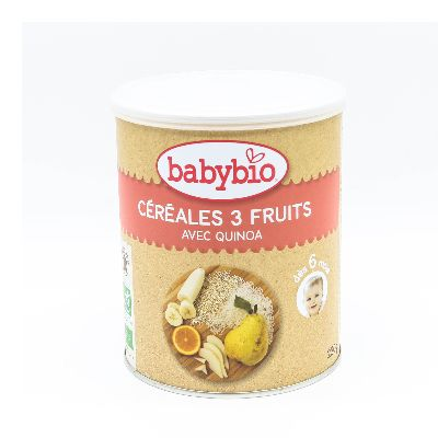 Babybio Cereales 3 Fruits 220g